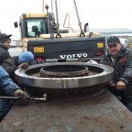 Ekskavatoriaus žiedo keitimo montavimas-min