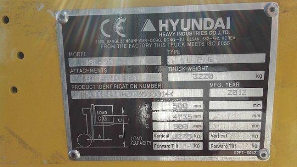 Krautuvas HYUNDAI 18L-7M specifikacija