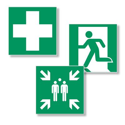 Evakuacijos krypties (saugių sąlygų) ženkl