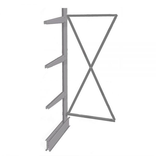 Konsolinio stelažo vienpusis stovas
